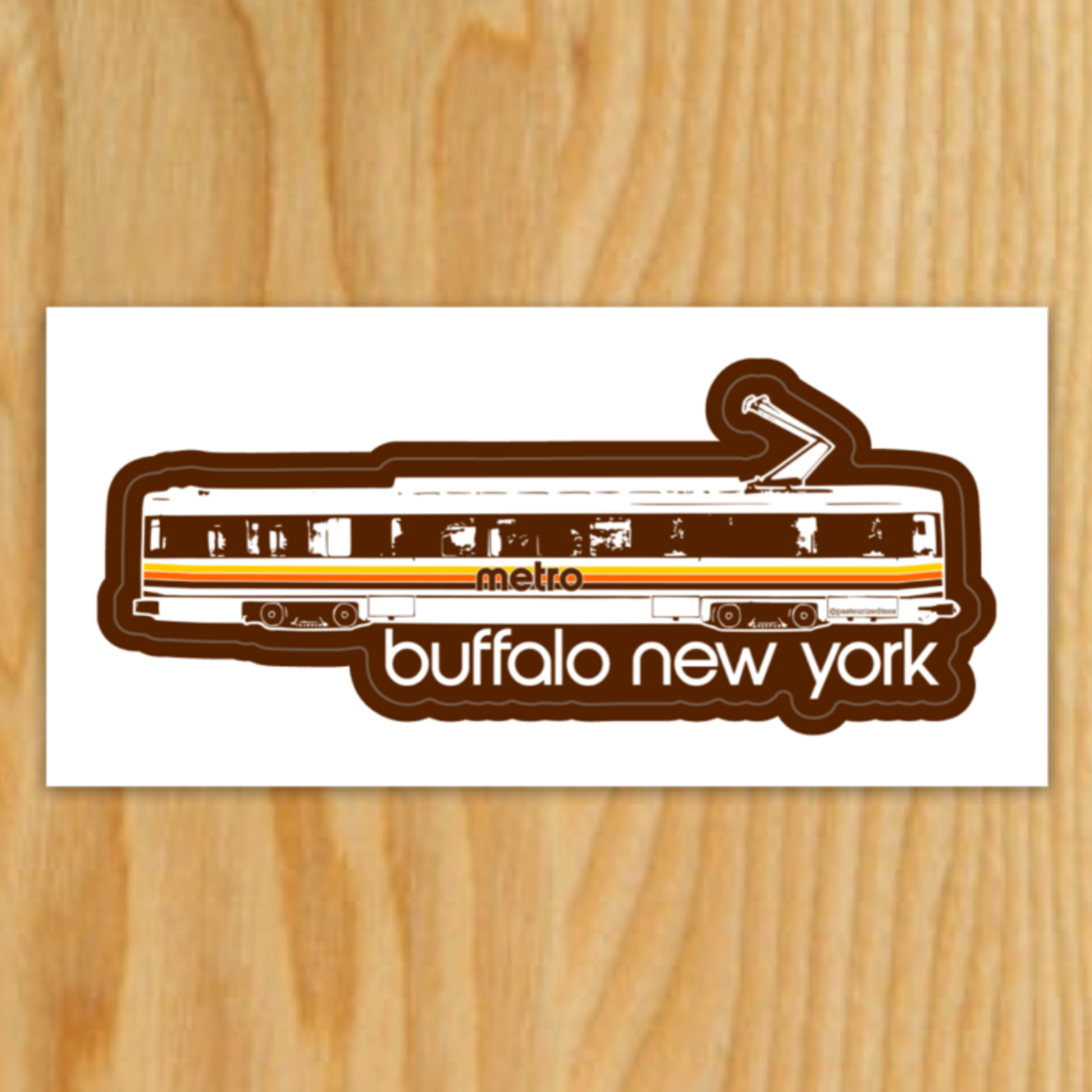 Subway Car Sticker