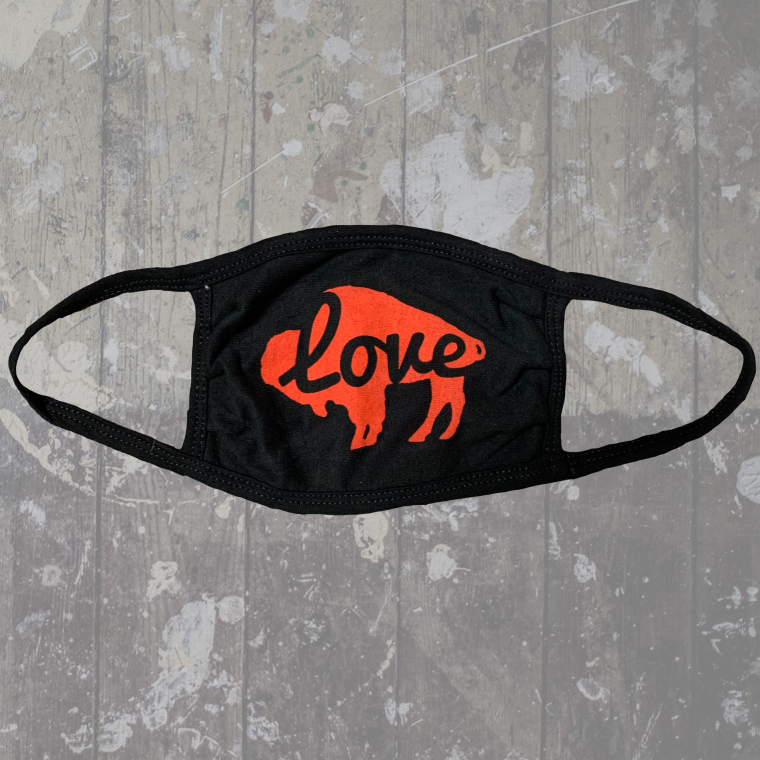 Buffalo Love Black Mask- $6.50