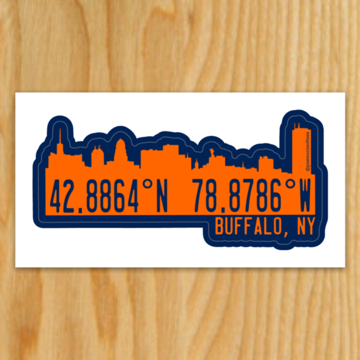 Buffalo Coordinates Sticker