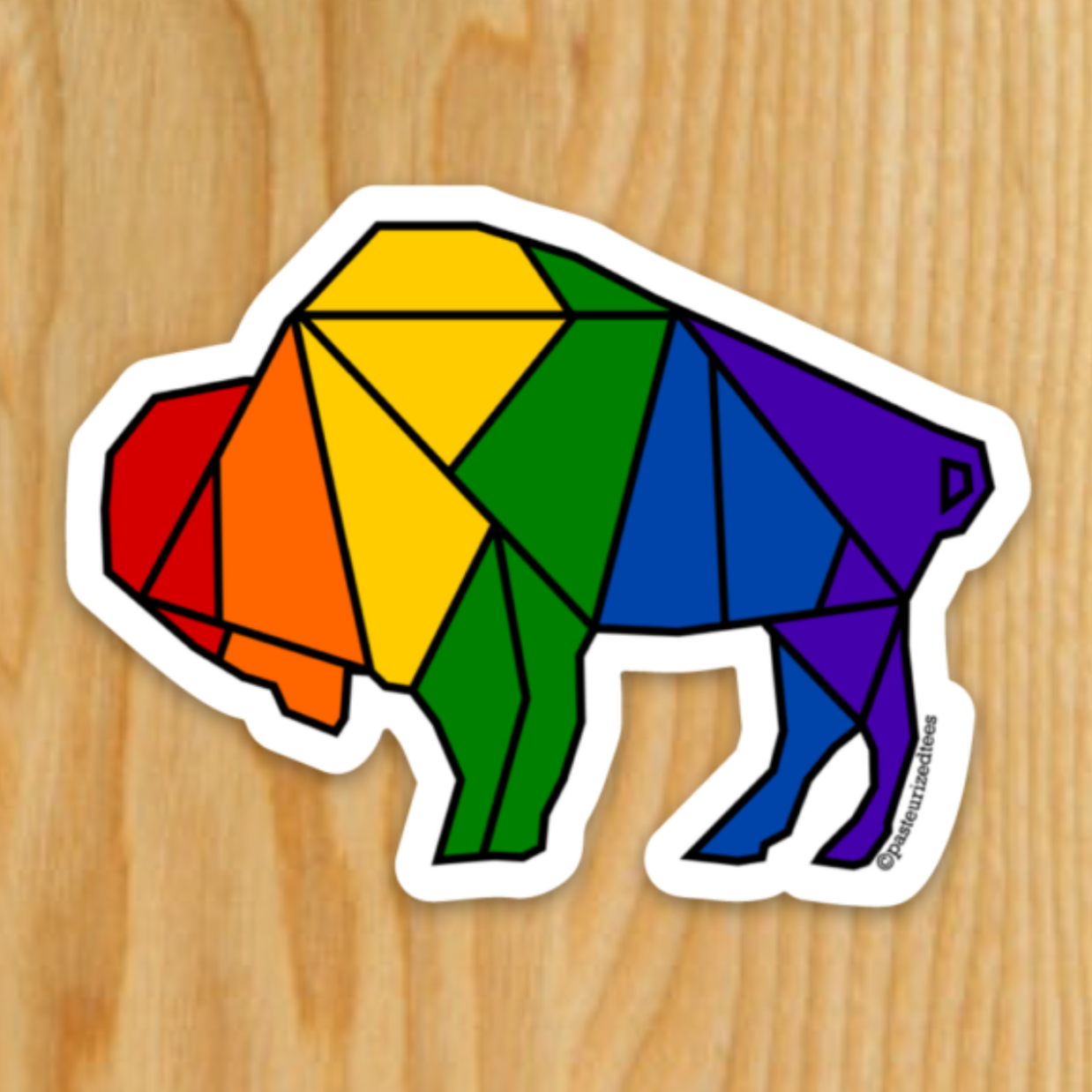 Pride Origami Buffalo Sticker