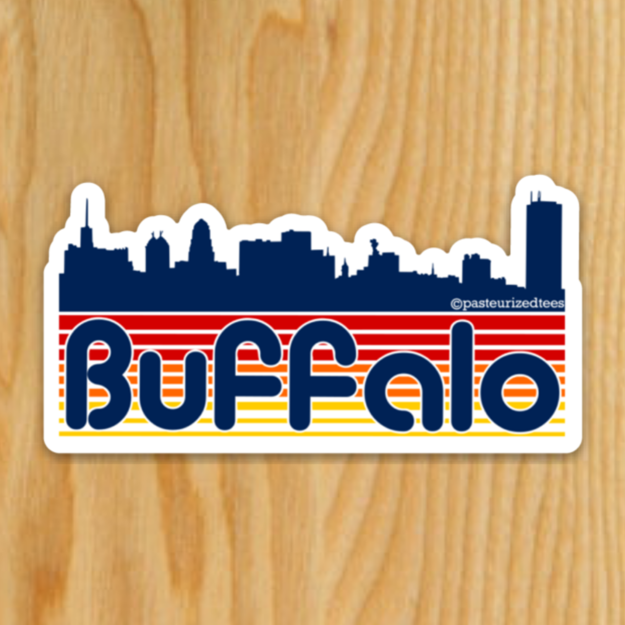 Retro Buffalo Sticker